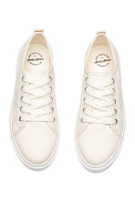 Canvas trainers - Natural white - Kids | H&M CN 2